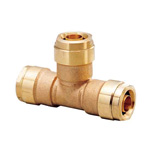 Double Lock Joint, WT1 Type, Tees Socket, Made of Brass