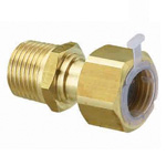 Metal Piping Fitting, Adapter with Nut, with Gasket and Poly-Stopper, Made of Bronze