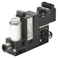 Vacuum Generation Device VG: Built-in vacuum switch, supply and destruction valves, filter, cables taken out from above.
