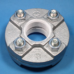 ZD Fittings, White Parts, Flange Union