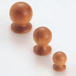 Round Ball Knob (Natural Wood Series)