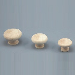 SMT Type White Wood Round Knob