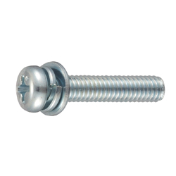 Phillips Pan Head Screws I=4 (SW+ISO Small Flat W) for Thin Plates