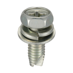 Cross Recessed Upset Tapping Screw, Type 3 Grooved C-1 Shape (SW + JIS Flat W)