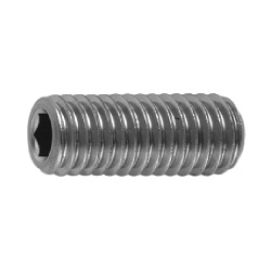 Hexagon Socket Set Screw, Indented Tip, by Ansco