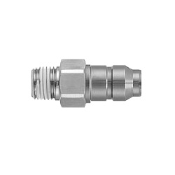 S Coupler Stainless Steel KKA Series, Plug (P) Male Thread Type