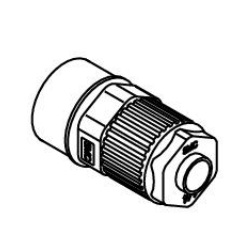 Female Connector LQ1H-F Metric Size Fluoropolymer Fittings / Hyper Fittings