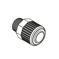 Fluoropolymer Bore Through Connector LQHB Metric Size