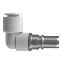 S Coupler KK Series, Plug (P) Elbow Type With One-Touch Fitting