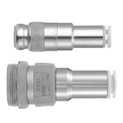 S Coupler KK Series, Socket (S) Straight Type With One-Touch Fitting
