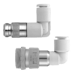 S Coupler KK Series, Socket (S) Elbow Type With One-Touch Fitting