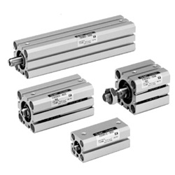 Compact Cylinder, Standard Type, Double Acting, Single Rod CQS Series