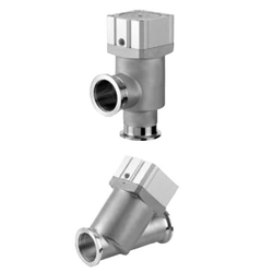 Stainless Steel High-Vacuum Angle Valves / In-Line Valves, Normally Closed, Bellows Seal, XMA/XYA Series