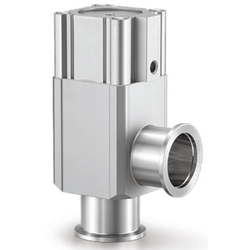 Aluminum High Vacuum Angle Valves, Normally Closed, Bellows Seal, XLA Series