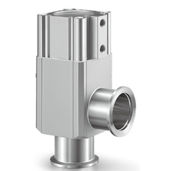Aluminum High Vacuum Angle Valve, Double Acting / Bellows Seal, XLC Series