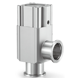 Aluminum High Vacuum Angle Valves, Normally Closed, O-Ring Seal, XLF Series