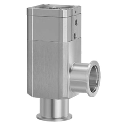 Aluminum High Vacuum Angle Valve, 2-Step Control, Single Acting / Bellows Seal, O-Ring Seal, XLD Series
