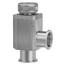 Aluminum High Vacuum Angle Valve, Manual Type, Bellows Seal, XLH Series