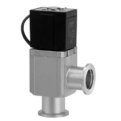 Aluminum High Vacuum Angle Valve XLS Series (Electromagnetic Type, Bellows Pressure Balance)