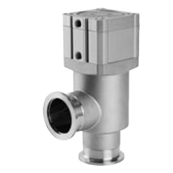 Stainless Steel High Vacuum Angle Valves / In-Line Valves, Double Acting / Bellows Seal, XMC/XYC Series