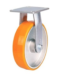 Heat Resistant Caster For High Load Weight Use (Maintenance-Free Urethane Wheels), Fixed