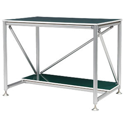 Workbench A with Shelf, High Rigidity Type, for Standing Work