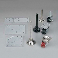 Level Adjuster Kit S with Caster (Stainless Steel)