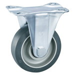 Gray Wheel Fixed Caster Without Stopper - K-612K