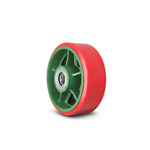Ductile Caster Wheels - Wide Type Urethane Wheels (with Bearings) TULB
