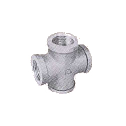 Pipe Fittings - Cross (with Band) - Unplated