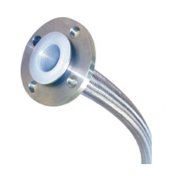 Flexible metal hose10K flange flare typePTFE inner surface straight