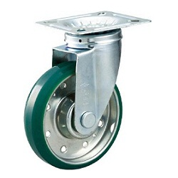 High-Tension Press-Formed Urethane Caster with Freely Rotating Fittings