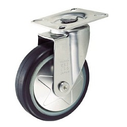 Press Low-Noise Casters Rubber Wheels Stainless Steel Brackets Swivel
