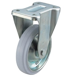 Oil Resistant Rubber Casters Fixed