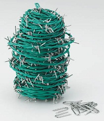 Barbed wire (steel/vinyl-coated type)
