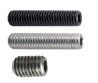 "1//2/""-20 x 1/"" Fine Thread Socket Set Screw Knurled Cup Pt Black Oxide"