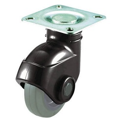 Reduced Noise Caster (Nylon Wheel Rubber Wheels), Gray Rubber Specification / Freely Rotating