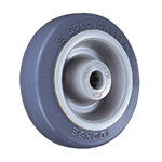 Dedicated Caster L Series Wheel, Rubber Wheel for Light Loads L-NRB (Gold Caster/GOLD CASTER)