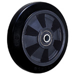 Dedicated Caster SS Series (Quiet) Wheel, Rubber Wheel for Light Loads SS-NRB (Gold Caster/GOLD CASTER)