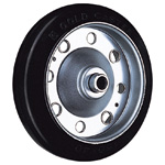 Wheel for Dedicated Caster S Series, Medium Duty Rubber Wheels, S-R/S-RB/S-NRB (GOLD CASTER)