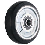Wheel for Dedicated Caster W Series, Medium Duty Rubber Wheel, W-RB (GOLD CASTER)