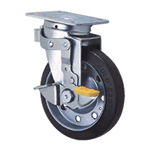 General Casters Steel Medium Load Plate Type S Series, Side Pedal Type Fixed and Swivel Switch, SJ-KS (GOLD CASTER)