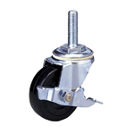 Standard Class 300s Bolt Type with Stopper, Synthetic Rubber Wheel (Packing Caster)