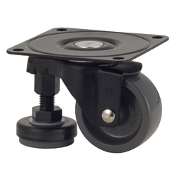 Functional Type, 100AF-N Track Type with Adjuster Foot Nylon Wheel (Packing Caster)