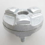 White and Black Fittings Assembly Flange