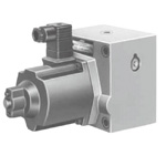 Flow rate control valve with 40Ω series proportional solenoid (check valve)