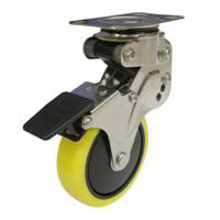 NPG Model Free Wheel Plate Type, Anti-Static Urethane Foam Wheel (with Stopper)