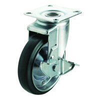 J2-S Model Swivel Wheel Plate Type (With Stopper)