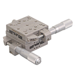 Manual XY Axis Crossed Roller Guides / Stainless Steel Type Stages: 40×40 mm
