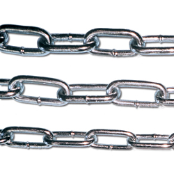 Bright chromate short link chain